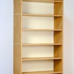 Natural Oak Finish Open Shelf Cabinet