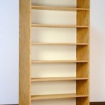 7 Tier, 42&#8243; Wide, Laminate Wood Open Shelf File Cabinet