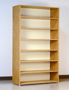 7 Tier, 48u2033 Wide, Legal Size, Laminate Wood Open Shelf File Cabinet