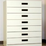 7 Drawer, 8000 Series Cabinet for 6″ x 9″ Non-Hanging Files – Almond Finish