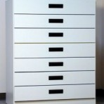 7 Drawer, 8000 Series Cabinet for 6″ x 9″ Non-Hanging Files – Folkstone Gray Finish