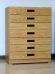 7 Drawer, 8000 Series Cabinet for 6″ x 9″ Non-Hanging Files – Natural Oak Finish
