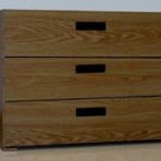 3 Drawer, 8000 Series Drawer Cabinet for 9&#8243; x 12&#8243; Non-Hanging Files &#8211; English Oak Finish