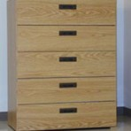 5 Drawer, 8000 Series Drawer Cabinet for 9&#8243; x 12&#8243; Non-Hanging Files &#8211; Natural Oak Finish