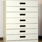 7 Drawer, 8000 Series Drawer Cabinet for 9″ x 6″ Hanging Files – Almond