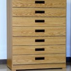 7 Drawer, 8000 Series Drawer Cabinet for 9&#8243; x 6&#8243; Hanging Files &#8211; Natural Oak Finish