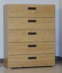 5 Drawer, 8000 Series Drawer Cabinet for 12″ x 9″ Hanging Files – Natural Oak Finish