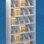 24″ wide 7 Tier Letter Size Datum Metal Shelving