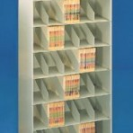 36&#8243; wide, 7 Tier Letter Size Datum Stackable Metal Shelving