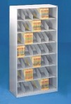 48″ wide 7 Tier Letter Size Datum Stackable Metal Shelving
