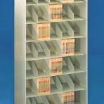 48&#8243; wide 7 Tier Letter Size Datum Stackable Metal Shelving