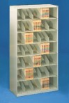 48″ wide 7 Tier Legal Size Datum Stackable Metal Shelving