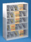 36″ wide 5 Tier X-Ray Size Datum Stackable Metal Shelving