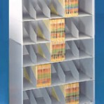 36&#8243; wide 5 Tier X-Ray Size Datum Stackable Metal Shelving