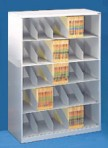 48″ wide 5 Tier X-Ray Size Datum Stackable Metal Shelving