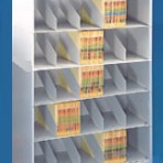 48&#8243; wide 5 Tier X-Ray Size Datum Stackable Metal Shelving