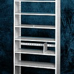 Starter 36&#8243; wide 7 Tier Tennsco Four Post Legal Size Metal Shelvin
