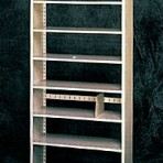 Starter 36&#8243; wide 7 Tier Tennsco Four Post Letter Size Metal Shelving