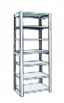 Add-On 36″ wide 7 Tier Tennsco Four Post Letter Size Metal Shelving
