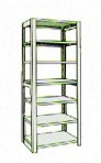 Add-On 36″ wide 7 Tier Tennsco Four Post Legal Size Metal Shelving