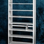 Starter 42&#8243; wide 7 Tier Tennsco Four Post Letter Size Metal Shelving