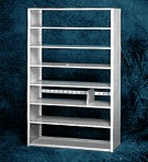 Starter 48&#8243; wide 7 Tier Tennsco Four Post Letter Size Metal Shelving