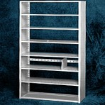 Starter 48″ wide 7 Tier Tennsco Four Post Letter Size Metal Shelving