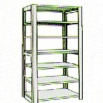 Add-On 48&#8243; wide 7 Tier Tennsco Four Post Legal Size Metal Shelving