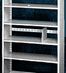 Starter 36&#8243; wide 5 Tier Tennsco Four Post X-Ray Size Metal Shelving