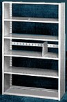 Starter 36″ wide 5 Tier Tennsco Four Post X-Ray Size Metal Shelving