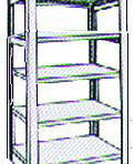 Add-On 36&#8243; wide 5 Tier Tennsco Four Post X-Ray Size Metal Shelving