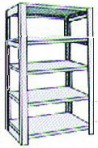 Add-On 36″ wide 5 Tier Tennsco Four Post X-Ray Size Metal Shelving