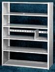 Starter 42″ wide 5 Tier Tennsco Four Post X-Ray Size Metal Shelving