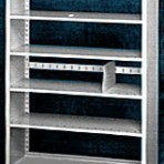 Starter 42&#8243; wide 5 Tier Tennsco Four Post X-Ray Size Metal Shelving