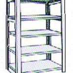 Add-on 42&#8243; wide 5 Tier Tennsco Four Post X-Ray Size Metal Shelving