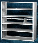 Starter 48″ wide 5 Tier Tennsco Four Post X-Ray Size Metal Shelving