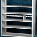Starter 48&#8243; wide 5 Tier Tennsco Four Post X-Ray Size Metal Shelving