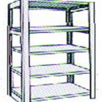 Add-On 48&#8243; wide 5 Tier Tennsco Four Post X-Ray Size Metal Shelving