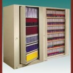 "6 Shelf Auroraâ""¢ Times-2 Speed Files® from Richards-Wilcox – Rotary File Cabinet Add-On Unit"