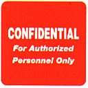 Item# 40570  'Confidential' label