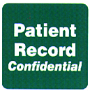 Item# 40571  'Patient Record-Confidential' label