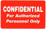 Item# 40574  'Confidential' label