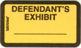 Item# 58024  Defendant's Exhibit Label