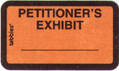 Item# 58026  Petitioner's Exhibit Label