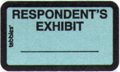 Item# 58027  Respondent&#8217;s Exhibit Label
