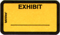 Item# 58090  Exhibit Label &#8211; yellow