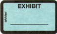 Item# 58091  Exhibit Label – blue