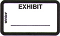 Item# 58092  Exhibit Label &#8211; white
