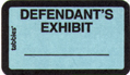 Item# 58093  Defendant's Exhibit Label