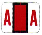 Item# 63-8275  Tab Match Individual Alpha Labels